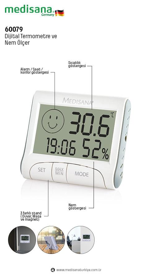 Medisana 60079 Dijital Termometre Nem Göstergesi