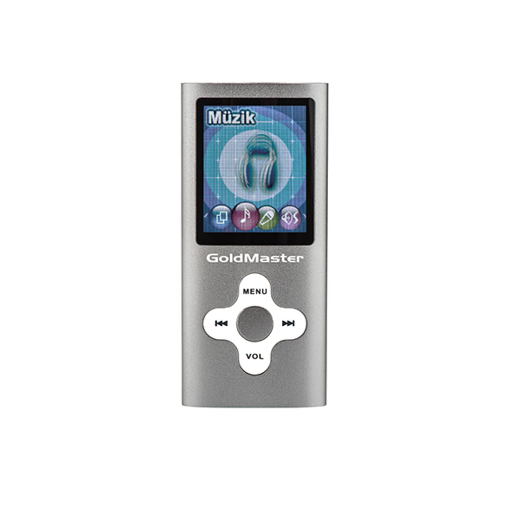 GOLDMASTER MP3-224 PLAYER GRİ-8gb