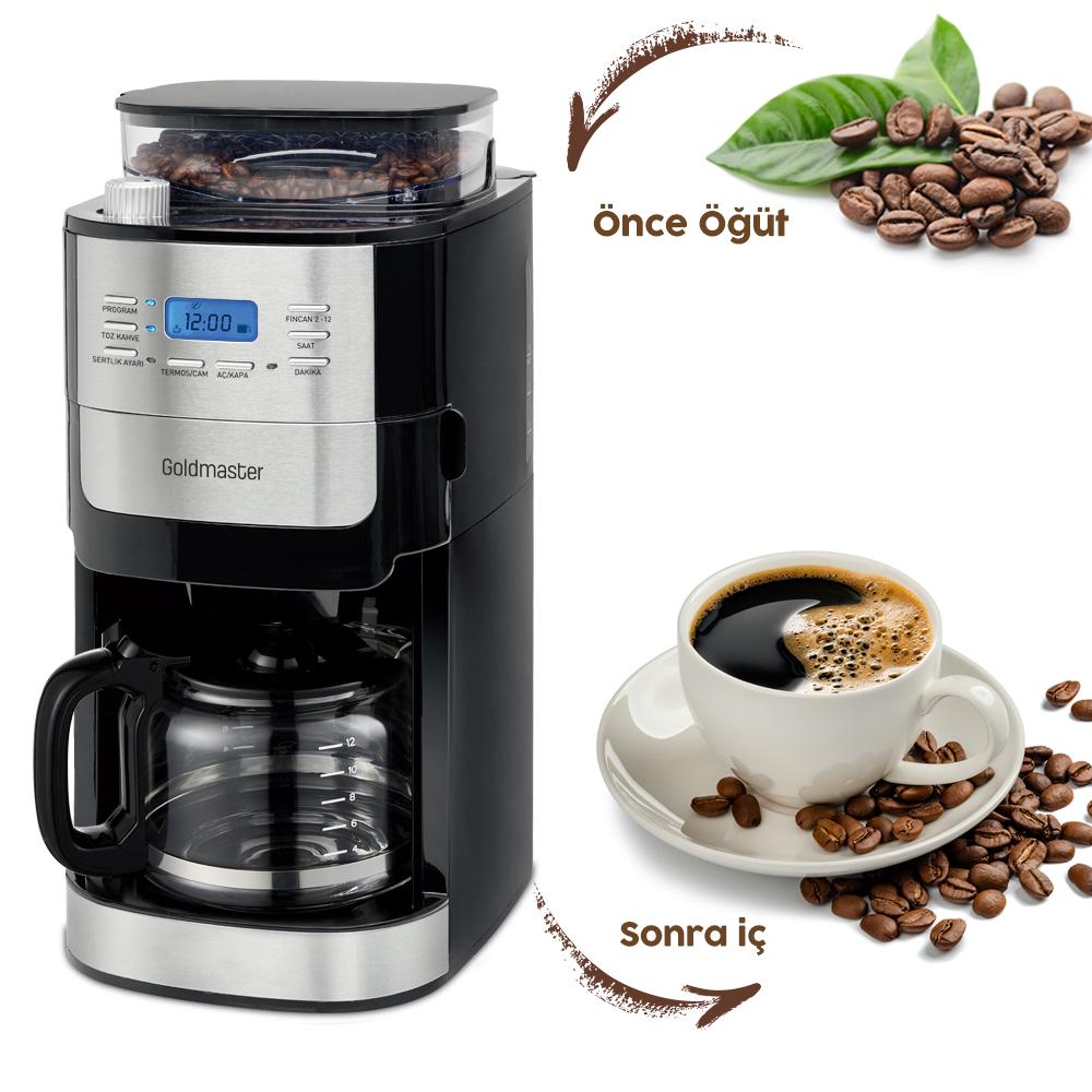 Proexpert Öğütücülü Otomatik Filtre Kahve Makinesi