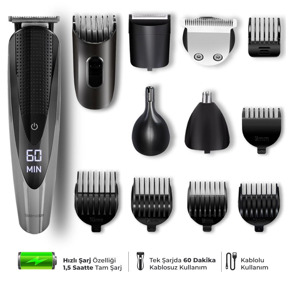 Matrix Erkek Bakım Saç Ve Sakal Tıraş Seti (12In1)