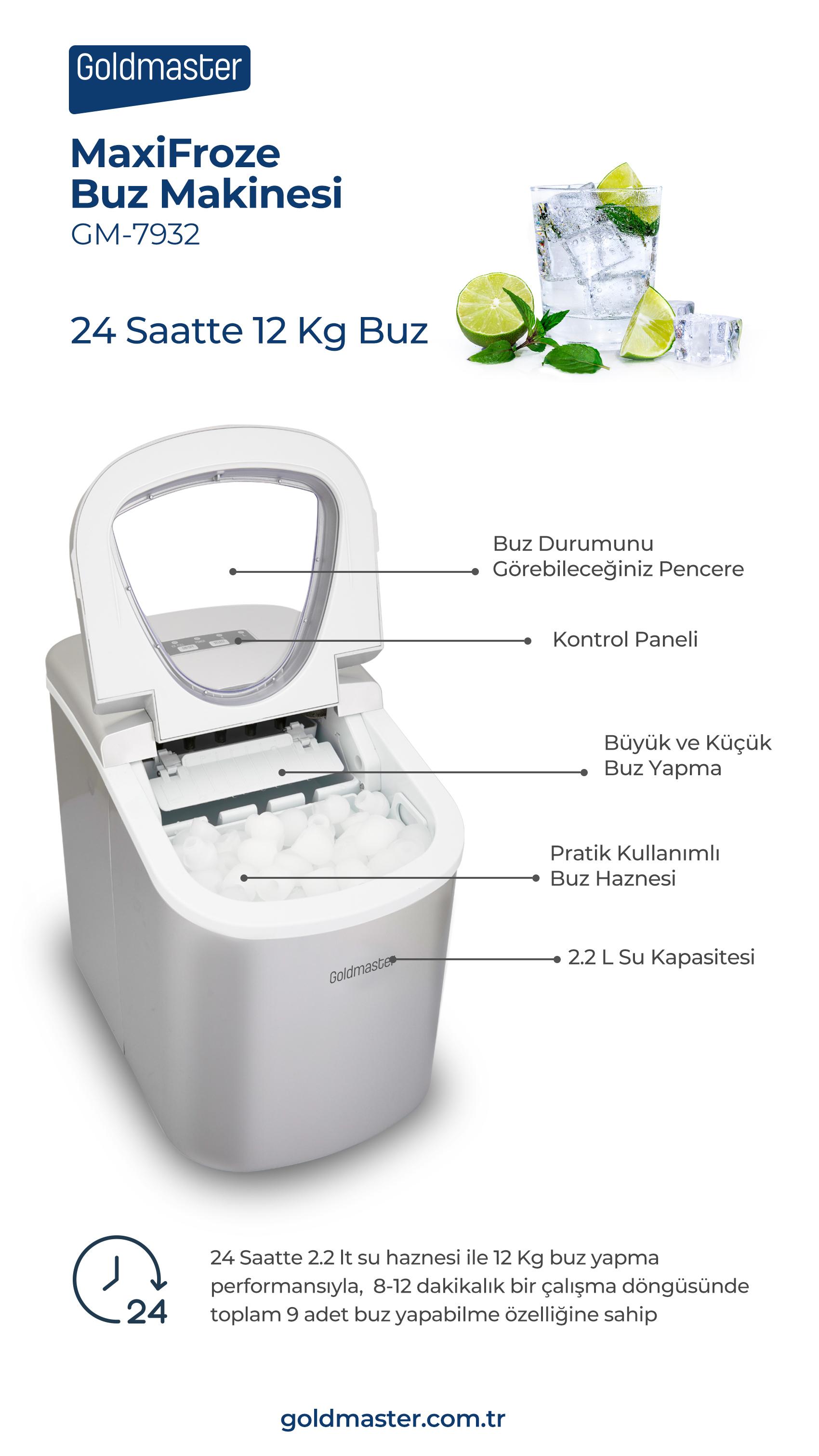 MaxiFroze Buz Yapma Makinesi