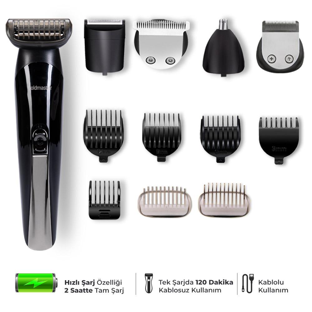 Trend Şarjlı Erkek Bakım Saç Ve Sakal Tıraş Seti 13In1