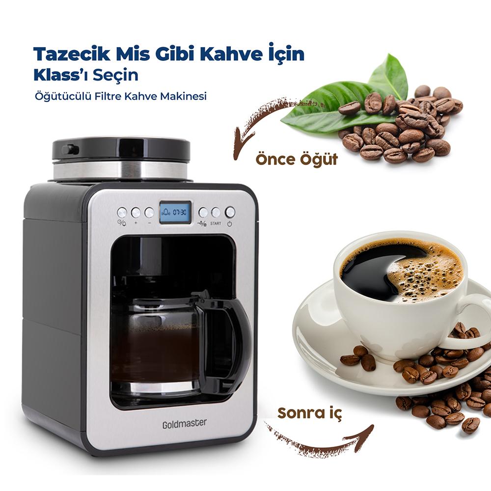 Klass Öğütücülü Filtre Kahve Makinesi